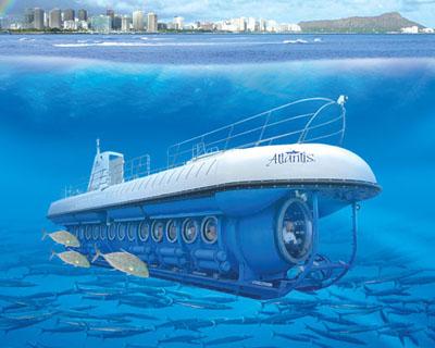 Atlantis潜水艇海底奇观